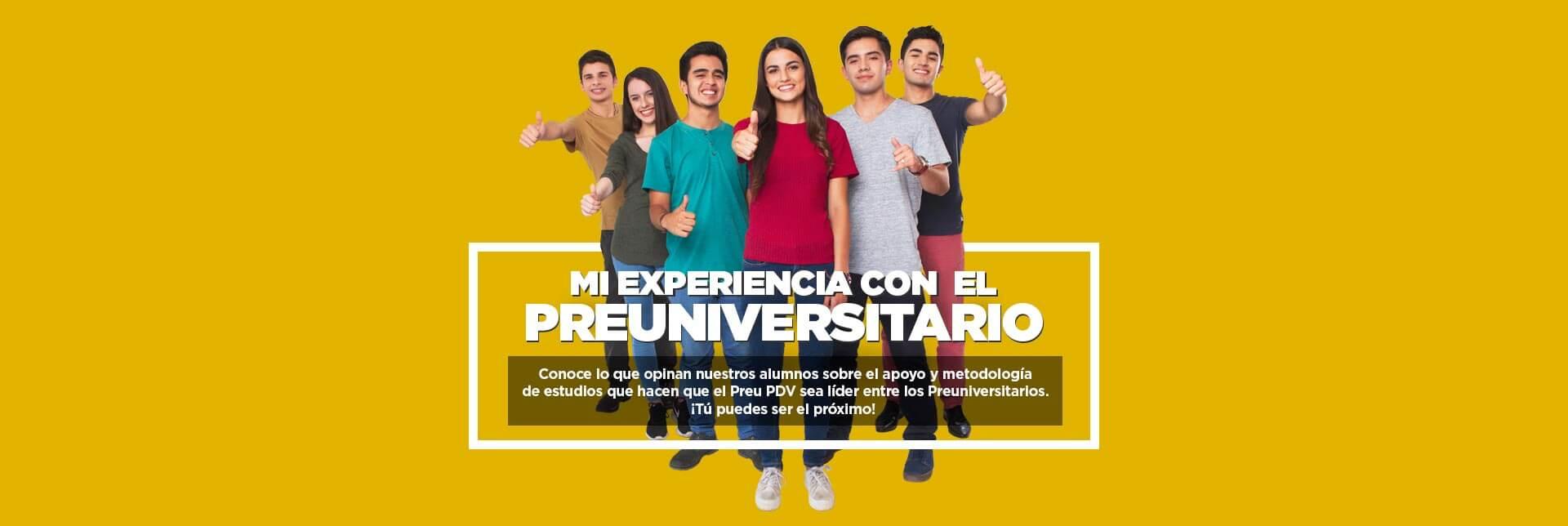 Experiencia Preuniversitarios Pruebas de Seleccion PDV