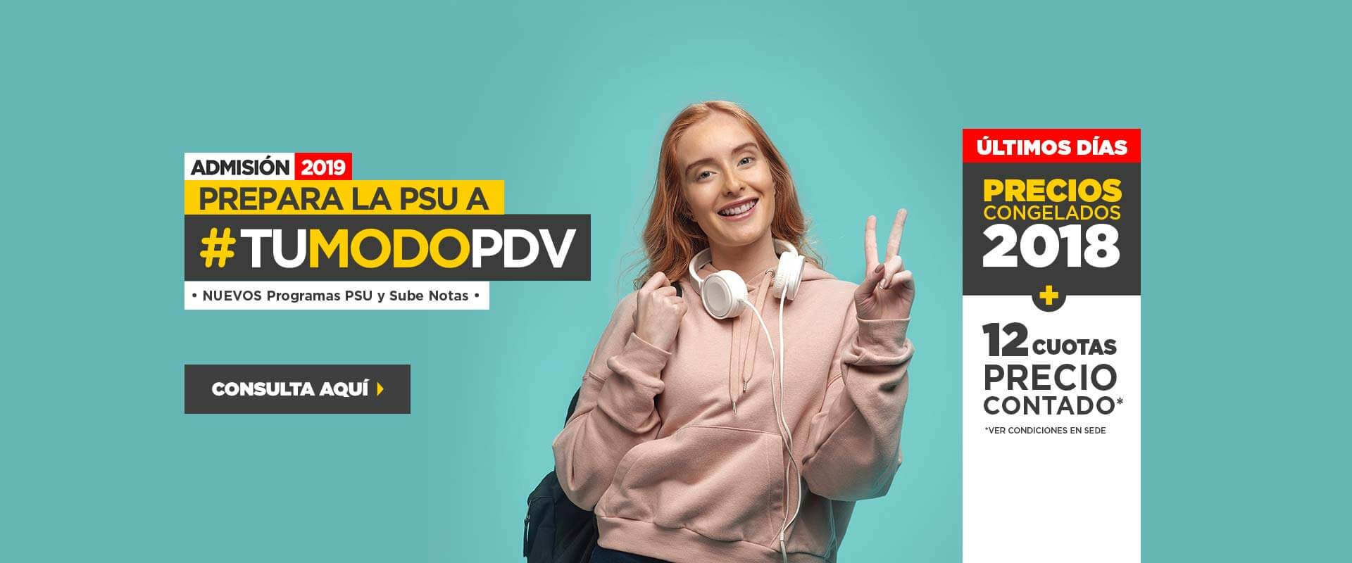 Nueva Admisión 2019 - Preuniversitario Pedro de Valdivia