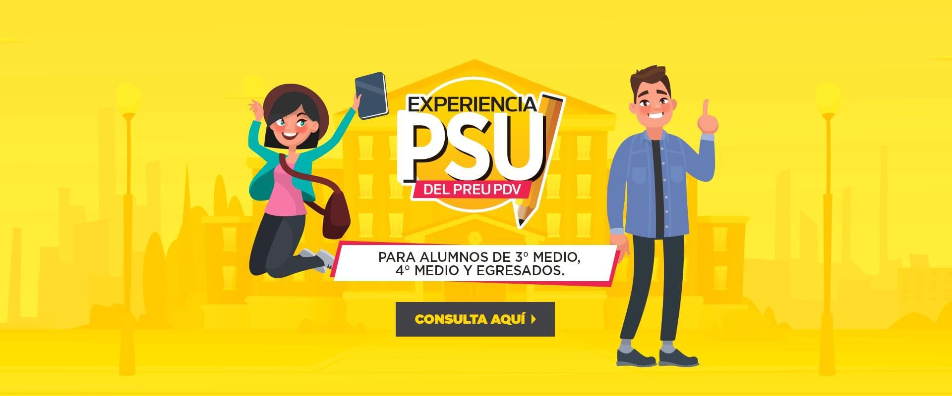 Experiencia PSU - Preuniversitario Pedro de Valdivia